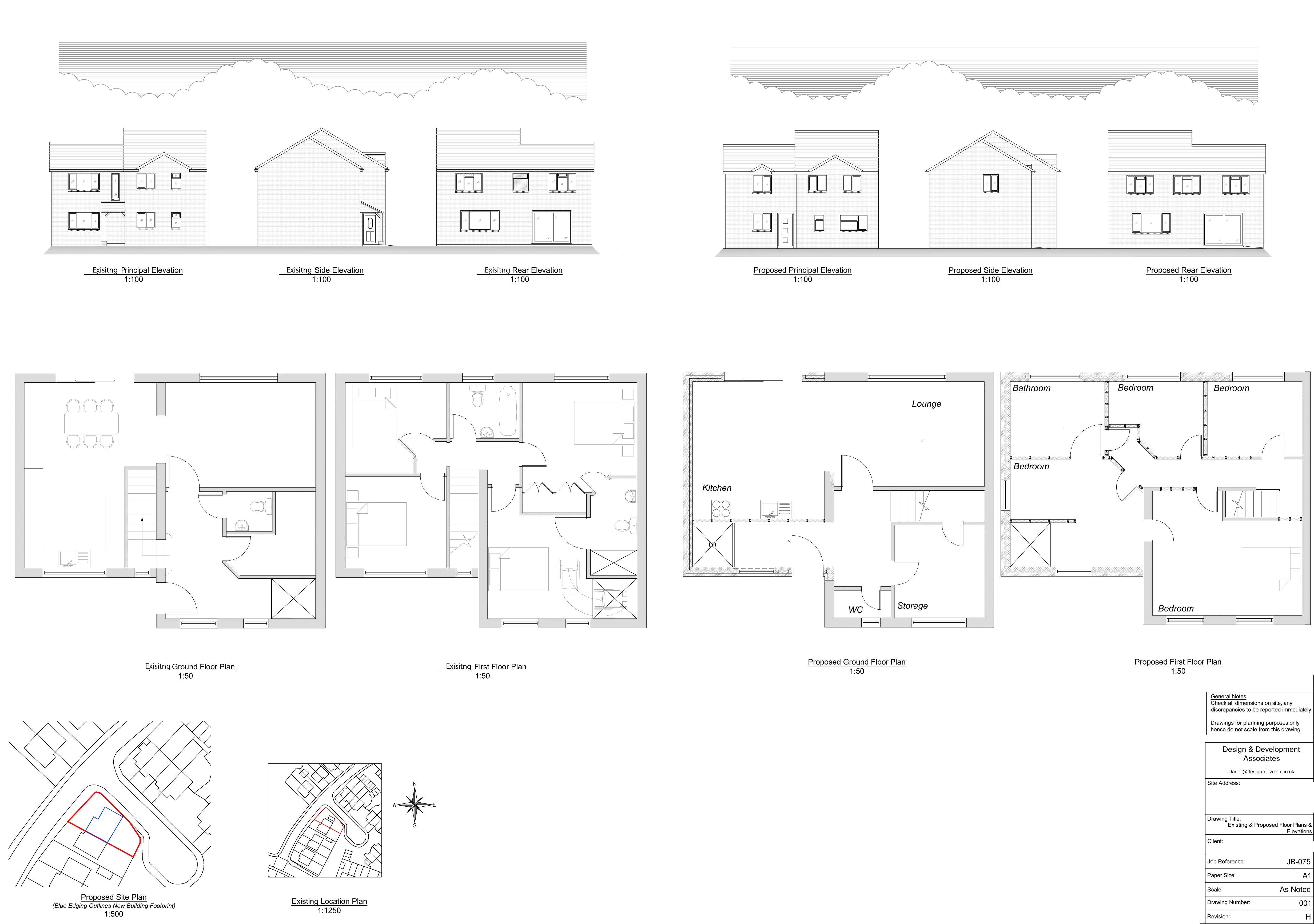 Existing and Proposed Floor Plans