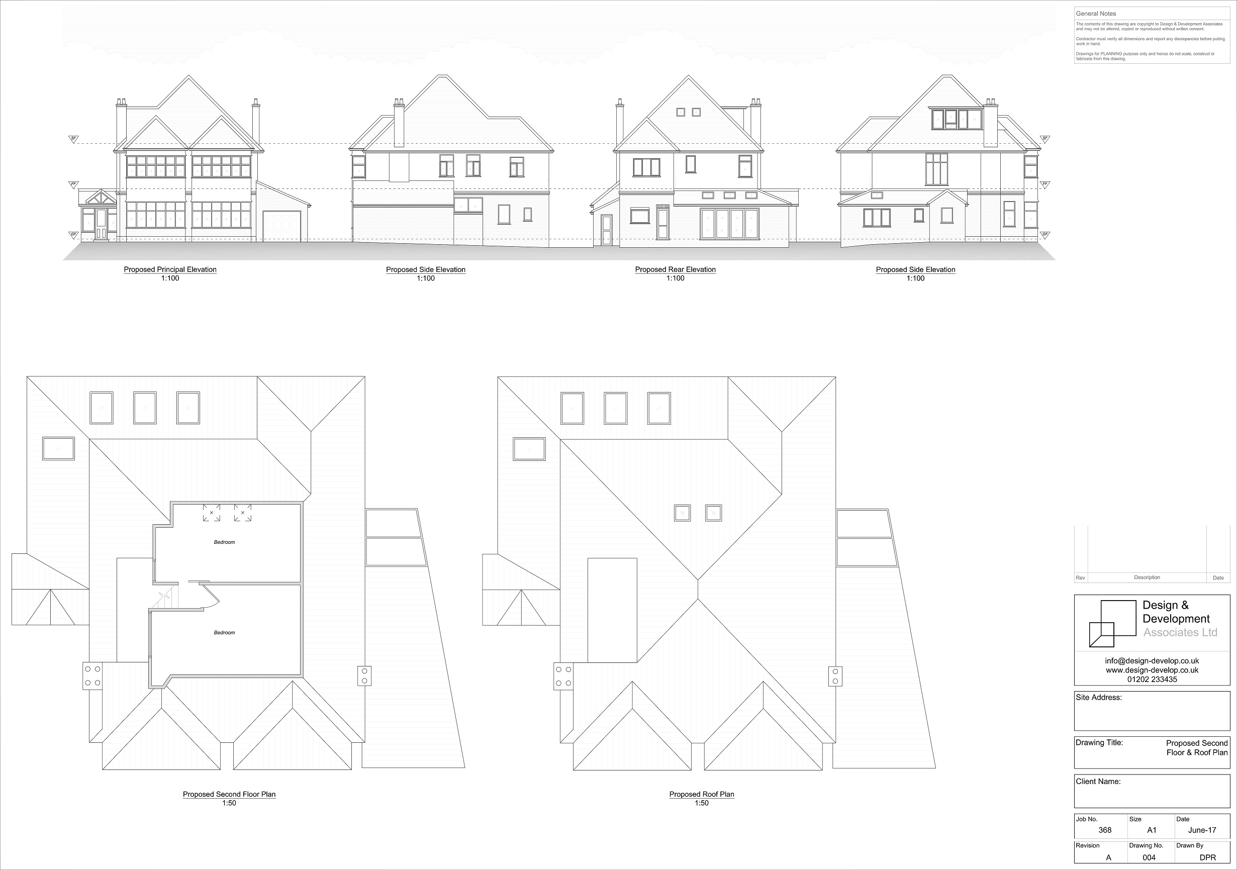 Existing Second Floor & Roof Plan