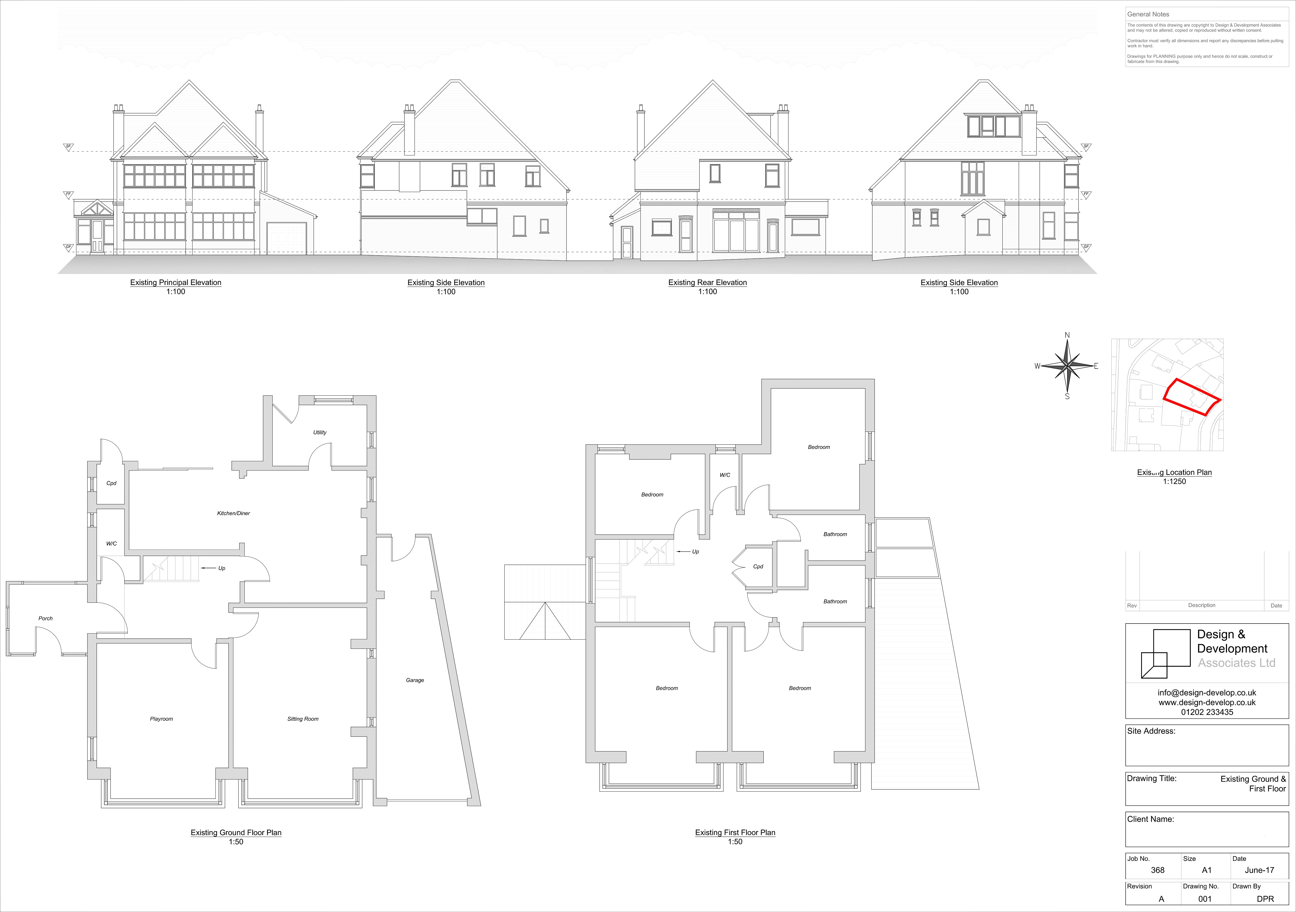 Existing Ground & First Floor Plans