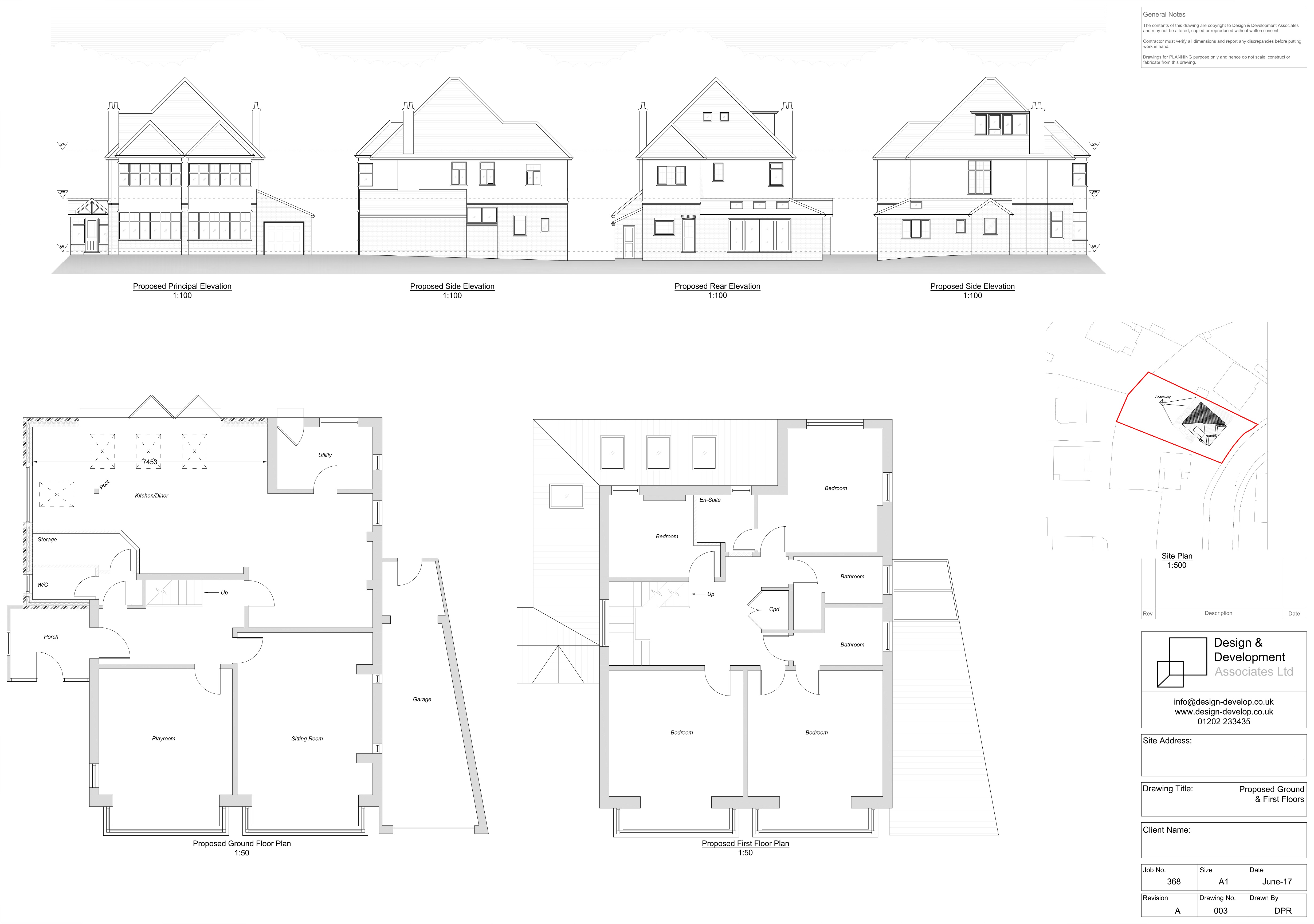 Proposed Second Floor & Roof Plan
